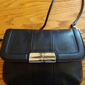 Coach bag with cross body strap